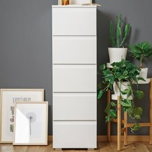 Hilary Contemporary Wooden Tall Chest Of Drawers In White