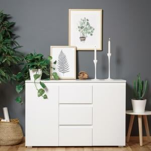 Hilary Contemporary Wooden Sideboard In White