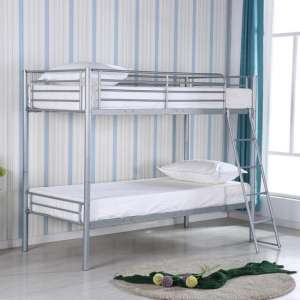 Himley Metal Bunk Bed In Silver