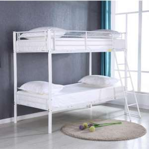 Himley Metal Bunk Bed In White