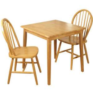 Honeymoon Square Dining Set With 2 Chairs