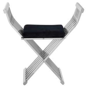 Fafnir Stainless Steel Cross Design Occasional Chair In Silver