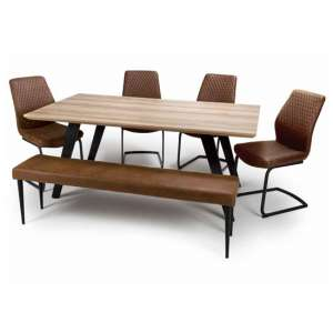 Hunter Dining Set With 4 Charlie Chairs And Charlie Bench