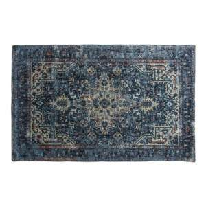 Iglezia Extra Large Fabric Upholstered Rug In Dark Teal