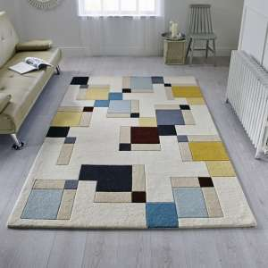 Illusion Abstract Blocks Rug