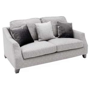 Imogen Fabric Upholstered Standard Back 2 Seater Sofa In Grey