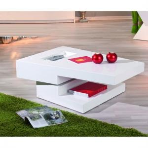 Independent Rotating White Gloss Coffee Table