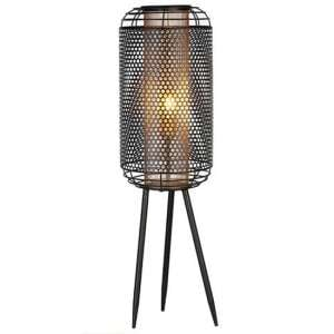Industrial Large Floor Lamp In Black And Gold