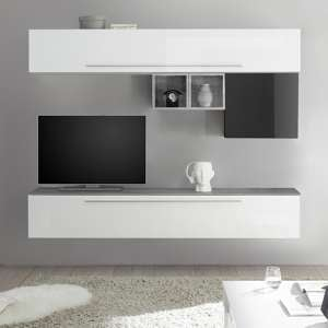 Infra Wall Entertainment Unit In White And Grey High Gloss