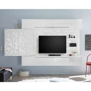 Infra Large Entertainment Unit In Serigraphed White High Gloss