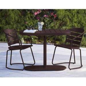 Intellifit Steel Set Of 3 Bistro Patio Set In Sandy Brown