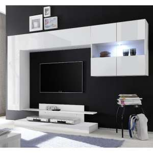 Iris Wall Entertainment Unit In White High Gloss