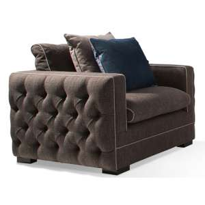 Ivy Fabric 1 Seater Sofa In Charcoal With Scatter Cushions