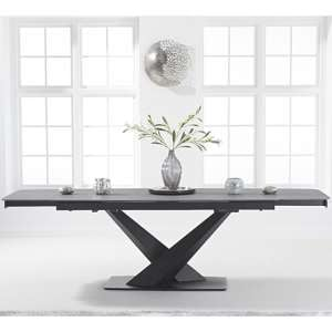Jackson Ceramic Extending Dining Table In Grey
