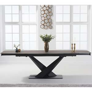 Jackson Ceramic Extending Dining Table In Mink