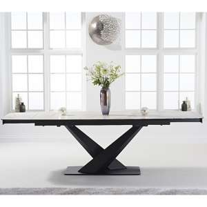Jackson Ceramic Extending Dining Table In White