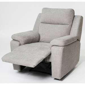 Jackson Fabric Recliner Armchair In Beige