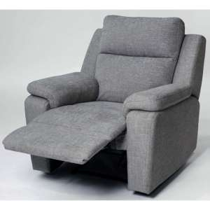 Jackson Fabric Recliner Armchair In Grey