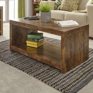 Jakarta Wooden Coffee Table With Shelf In Mango
