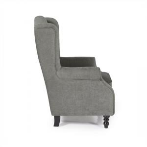 Jaxon Sofa Chair In Grey Fabric With Wooden Legs_3