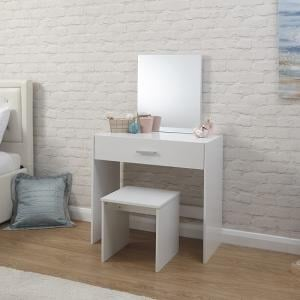 Jayden Contemporary Wooden Dressing Table Set In White