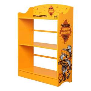 JCB Kids Muddy Friends Bookcase In Yellow