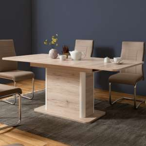 Jenna Extending Dining Table In Sorrento Oak Effect And White