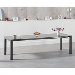 Jensen Extendable Dining Table In Dark Grey High Gloss