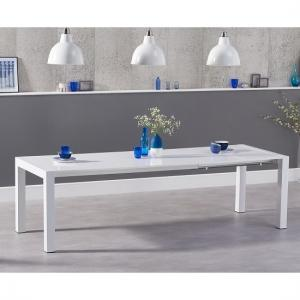Jensen Extendable Dining Table In White High Gloss