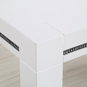 Diamante Console Table In White High Gloss With Rhinestones_2