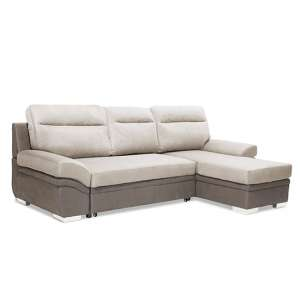 Jessica Linen Fabric 2 Seater Chaise Sofa In Grey