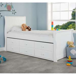 Jupiter Wooden Cabin Bed In White