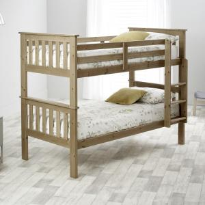 Katie Wooden Bunk Bed In Lacquered Pine