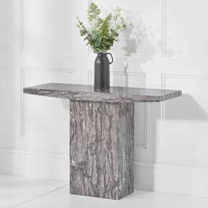 Kempton Marble Console Table Rectangular In Grey