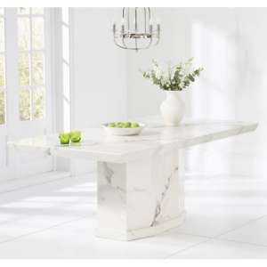 Kempton Marble Large Dining Table Rectangular In White