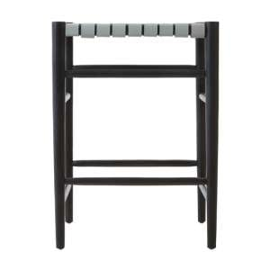 Formosa Teak Wood Bar Stool In Black