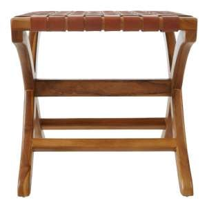 Formosa Teak Wood Stool In Brown