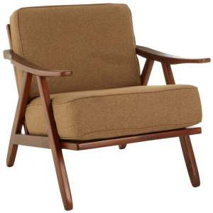Formosa Teak Wood And Fabric Chair With Wooden Legs
