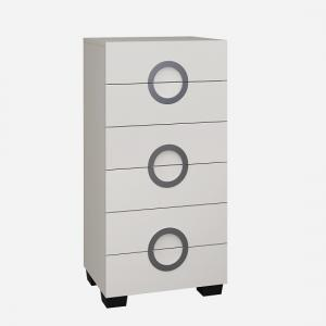 Kennedy Chest of Drawers In Cashmere High Gloss
