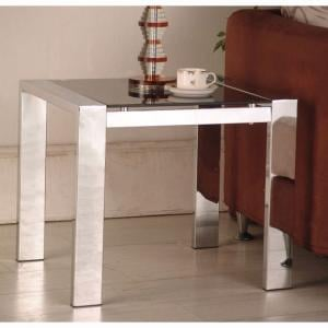 Naxis Lamp Side Table In Black And Chrome