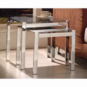 Naxis Black Set of 2 Nesting Tables