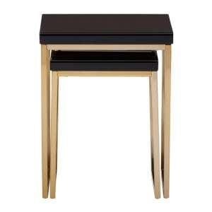 Furud Townhouse Set Of 2 Nesting Tables In Black