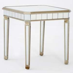 Kentaurus Mirrored Glass Side Table In Champagne