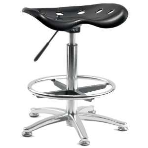 Kentucky Contemporary Stool In Black With Castors