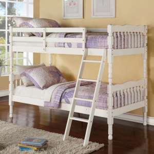 Kerri Wooden Bunk Bed In Cream