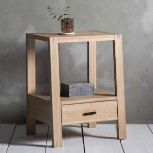 Kielder Mellow Solid Oak Side Table In Light Oak