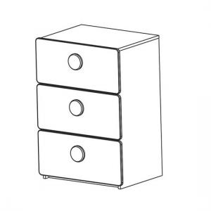 Soccer Childrens Chest of Drawers In Pearl White With 3 Drawers_3