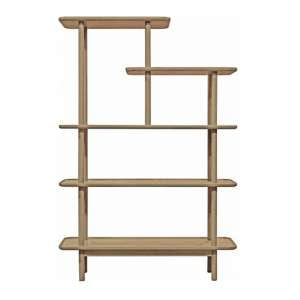 Kingham Wooden Open Display Unit In Oak With Shelves