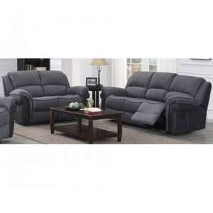 Kingston Fabric 3 And 2 Seater Sofa Suite In Grey