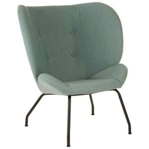 Giausar Metal Legs Chair In Green Fabric